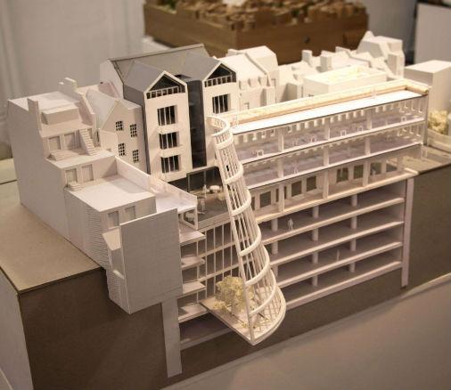 Detaljerad 3D-printad modell