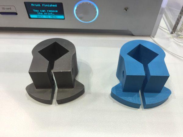 Slutprodukt och 3D-printad prototyp