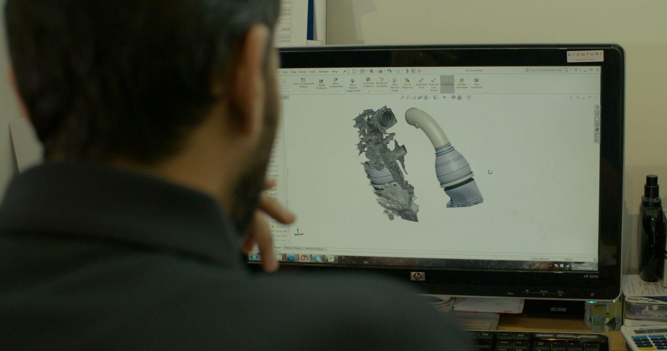CAD-design av luftintagssystem