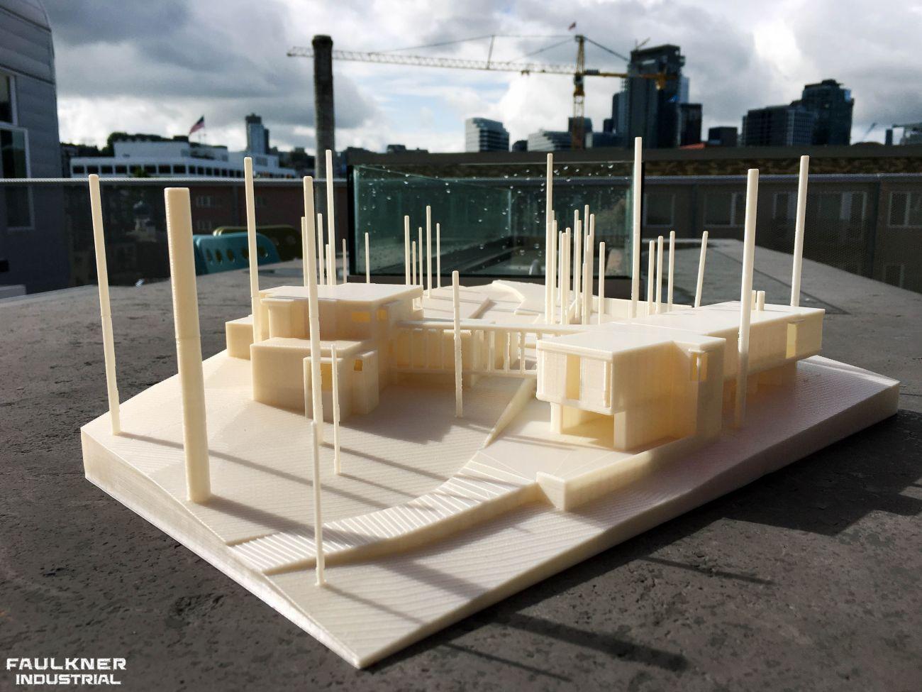 3D-printad modell uppvisad utomhus